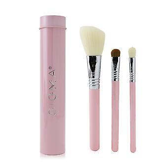 Conjunto de cepillos de trío esenciales de color rosa 231591 3pcs+1 lata