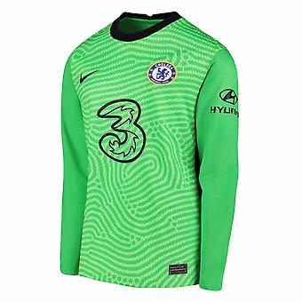 2020-2021 Chelsea Hemma Nike Målvakt Skjorta (Grön) - Barn