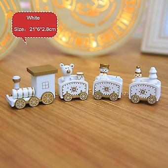 Knots Christmas Train Painted Wooden Decorations For Home Xmas New Year