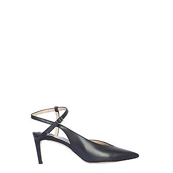 Jimmy Choo Sakeyaclfblack Women's Black Leather Sandals