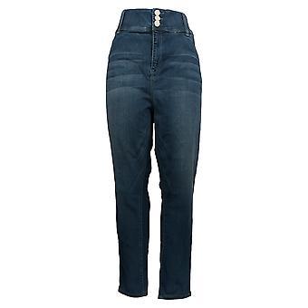 Laurie Felt Women's Jeans (XXL) Curve Silky Skinny Ankle Blue A305680