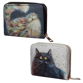 Small Size Around Wallet - Kim Haskins Cat Design X 1 Pack