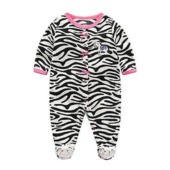 0-3 Months Girls Baby Footies Velvet Newborns Baby Autumn Winter Clothing Suits For 3m 6m 9m 12m