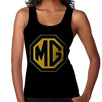 MG svart og gull logo britiske motor heritage kvinner's Vest