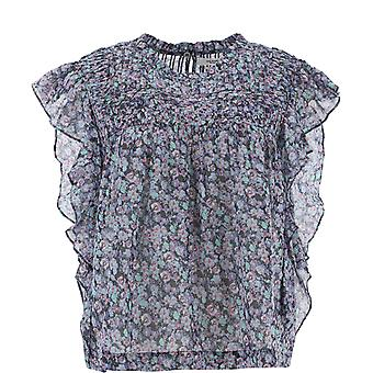Isabel Marant ÉToile Ht154120a051e99mu Women's Light Blue Cotton Top