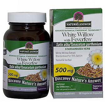 Nature's Answer White Willow with Feverfew Standardized, 60 Veg Caps