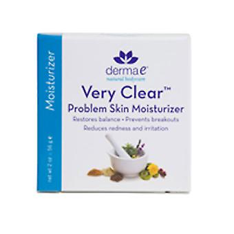 Derma e Clear Skin 3 (Hydratant pour la peau problématique), 2 OZ