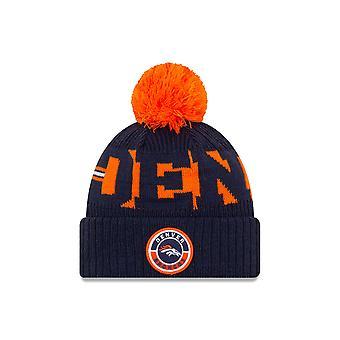 New Era NFL20 On Field Sport Knitted Beanie ~ Denver Broncos