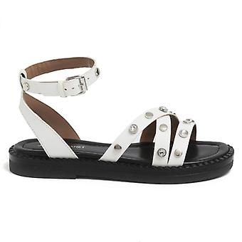 Janet sandal & Janet White Leather Demeter With Studs