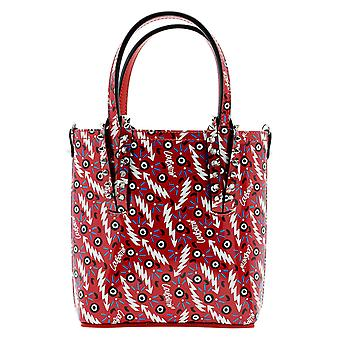 Christian Louboutin 1215098r251 Women's Red Patent Leather Tote