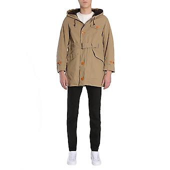 Visvim 011720501300802 Men's Beige Wool Outerwear Jacket