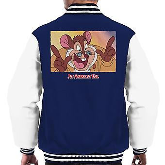 en amerikansk hale papa mousekewitz ansikt menn's varsity jakke