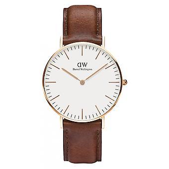 Daniel Wellington DW00100035 St Mawes reloj de pulsera correa marrón
