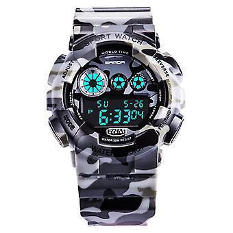 SANDA 289 Digitale Horloge Camouflage Stijl militaire waterdichte mannen sport pols