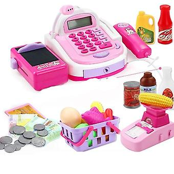 Kids Plastic Cash Register Cashier Pretend & Play