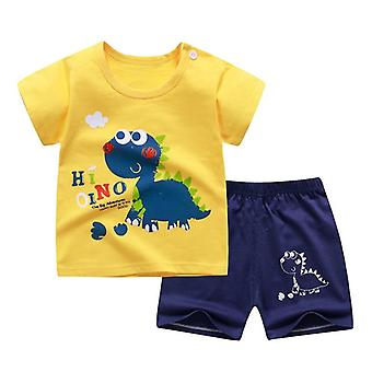 Gyermekek Soft Rövidnadrág Suit Póló Sodder, Kids Dinosaur Cartoon Infant Clothes