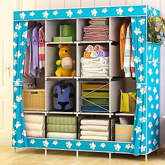 Normal Large Size Modern Simple Wardrobe Fabric Folding Cloth Storage Cabinet