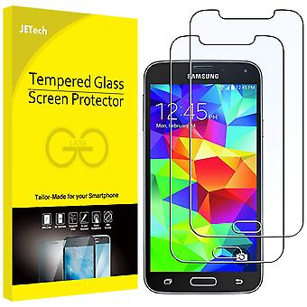 Jetech screen protector compatible samsung galaxy s5, tempered glass film, 2-pack