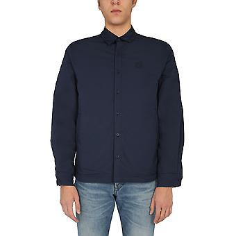 Kenzo Fa65ch4601ne76 Men''s Blue Cotton Shirt
