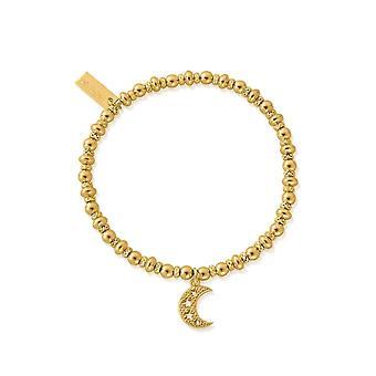 ChloBo GBDS3087 Gold Tone Didi Starry Moon Hand Bracelet