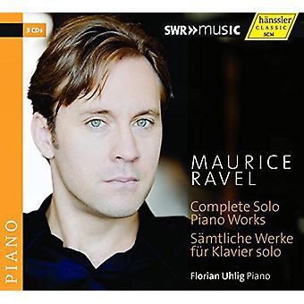 Ravel / Uhlig - Comp Solo Pno Works [CD] USA import