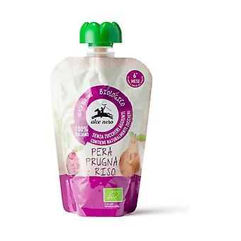 Puree pear plum rice in Baby Food doypack None