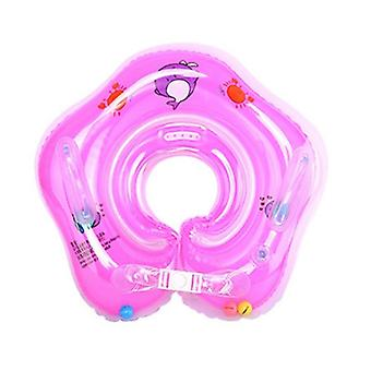 Summer Safe Inflatable Circle Newborn Neck Float- Infant Baby Swimming Ring