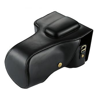Full Body Camera PU Leather Case Bag for Canon EOS 760D / 750D (18-135mm Lens) (Black)