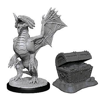 D&D Nolzur's Minis Bronze Dragon Wyrmling & Treasure