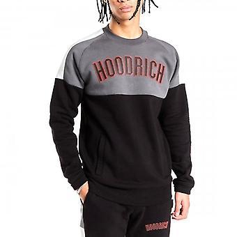 Hoodrich OG Panel V2 Crew Neck Sweatshirt Black/Grey/Red