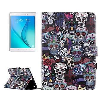 For Galaxy Tab A 9.7 / T550 Ghost Head Pattern Horizontal Flip Leather Case with Holder & Card Slots & Wallet