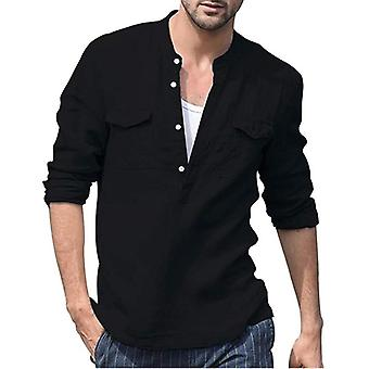 Men & apos;s قميص الصيف طويل الأكمام, ذكر بلوزة الأعلى, القطن مريحة