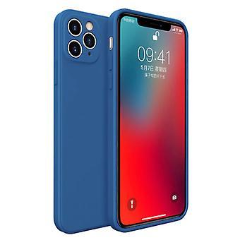 MaxGear iPhone 7 Square Silicone Case - Soft Matte Case Liquid Cover Blue