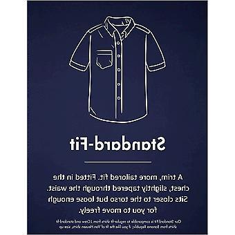 Goodthreads Men's Standard-Fit Short-Sleeve Band-Collar Oxford Shirt, -blue, ...