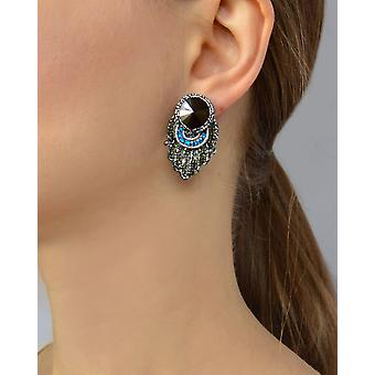 Stud Earrings With Swarovski Stones