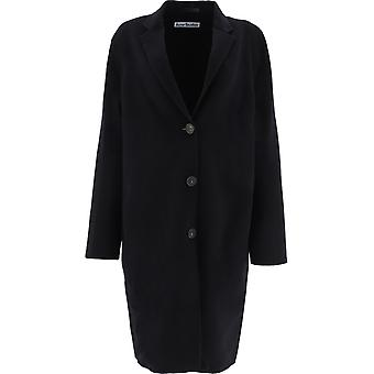 Acne Studios A90339black Women's Black Wool Coat