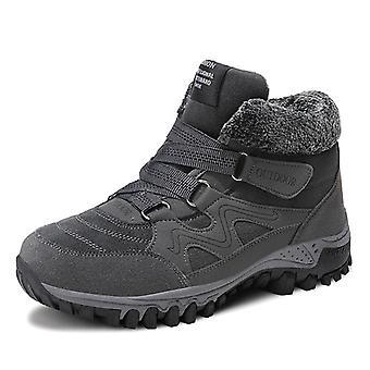 Damas Felpa Invierno Zapatos de Nieve Gris
