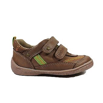 Startrite Super Soft Leo Light Brown Leather Boys Rip Tape Casual Shoes