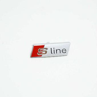 Red/Silver Steering Wheel Stick on Badge Emblem For A1 S1 A3 S3 RS3 A4 S4 RS4 A5 S5 RS5 A6 S6 RS6 A7 S7 RS7 A8 S8 RS8 Q2 Q3 Q5 Q7 Q8 TT R8
