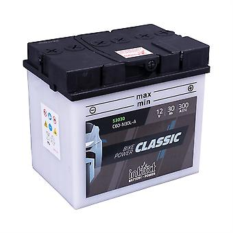 intAct C60-N30L-A Classic Bike-Power Battery With Acid Pack