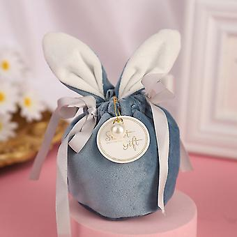 Velvet Rabbit Gift Bag with Drawstring Wedding Favors Candy Gift Boxes Baby Shower Birthday Party Gift Bag for Packing Christmas