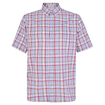 Carabou Red & Brown Check Short Sleeve Shirt