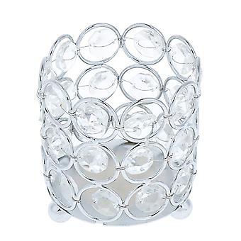 Crystal Tealight Candle Lantern Holders Candlesticks For Home Decors