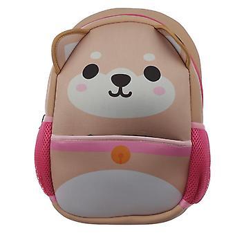 Sac à dos/sac à dos de néoprène d'école d'enfants - chien d'inu de shiba de cutiemals