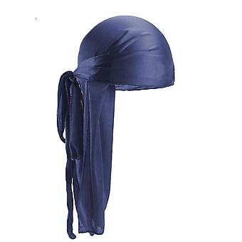 Satin Durags Bandanna Turban, Wigs Pirate Hat, Män Silky Headwear,
