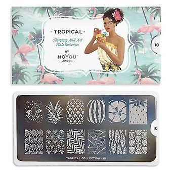MoYou London Nail Art Image Plate - Tropical 10 (692726)