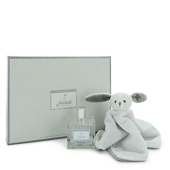 Le Bebe Jacadi Gift Set By Jacadi 3.4 oz Eau De Parfum Spray + Bebe Jarcadi  Sweet Rabbit