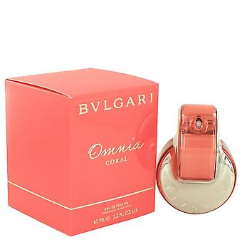 Omnia Coral Eau De Toilette Spray By Bvlgari 2.2 oz Eau De Toilette Spray