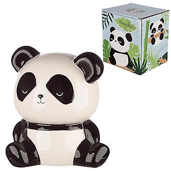 Boîte d'argent en forme de panda en céramique de collection