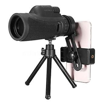 40X60 professional monocular powerful telescope mobile night vision military eyepiece handheld objective lens hunting